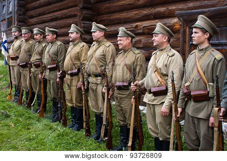 Soldiers Of The Russian Army The First World War.