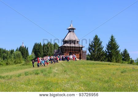 Wooden Watchtower In Museum  Khokhlovka
