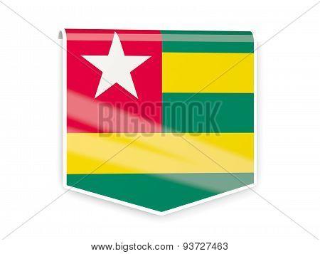 Flag Label Of Togo