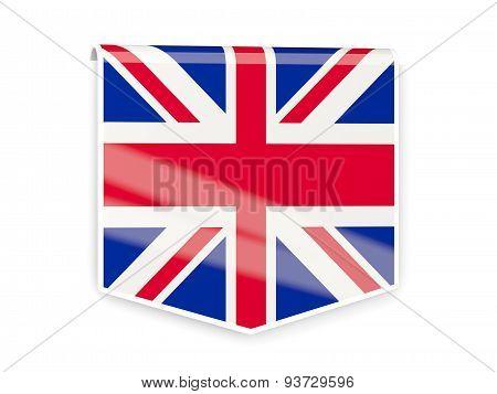 Flag Label Of United Kingdom