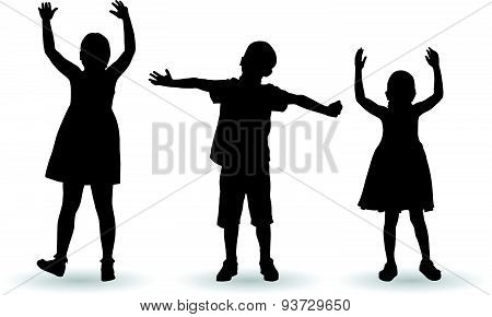 Children Celebrate With Open Arms