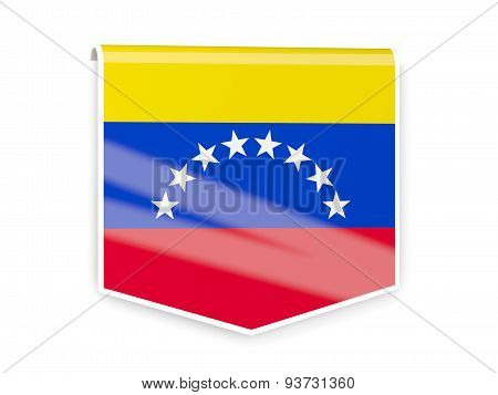 Flag Label Of Venezuela