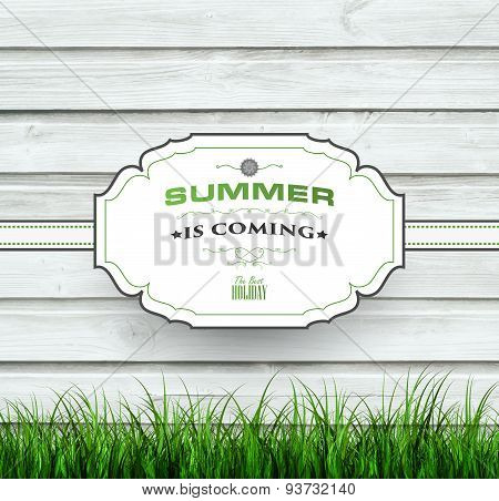 Summer Wooden Background