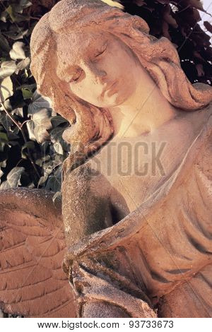 Sculpture Of An Angel (vintage Styled)