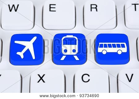 Book A Trip Travel Online On Internet With Bus, Airplane Or Train