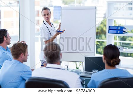 Team of doctors having brainstorming session in the meeting room