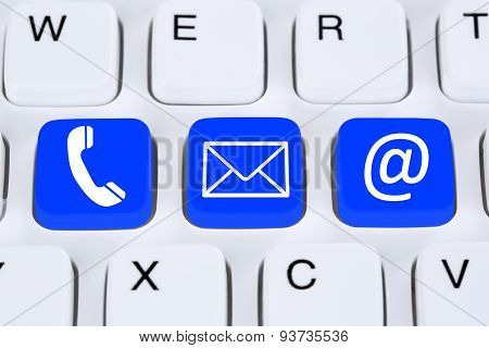 Communication Contact By Telephone, Mail Or E-mail Online