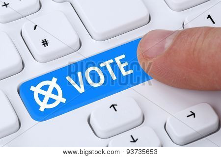 Online Vote Button Election On The Internet Computer