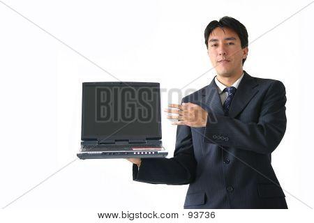Business Man Laptop - Ar
