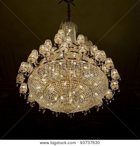 Chrystal Chandelier With Black Background