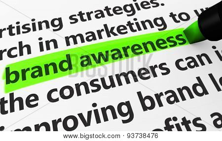 Brand Awareness Marketing Concept