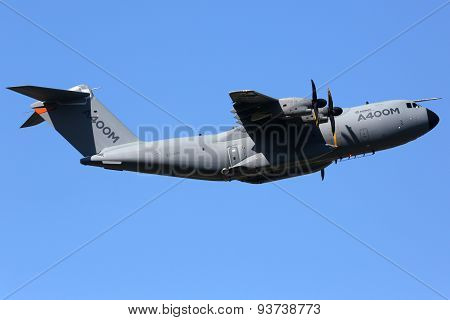 Airbus A400M Military Transport Airplane Toulouse Airport