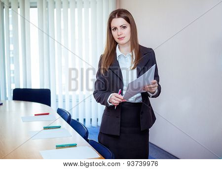 Business coach in a meeting room