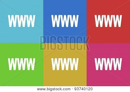 www flat vector web icons