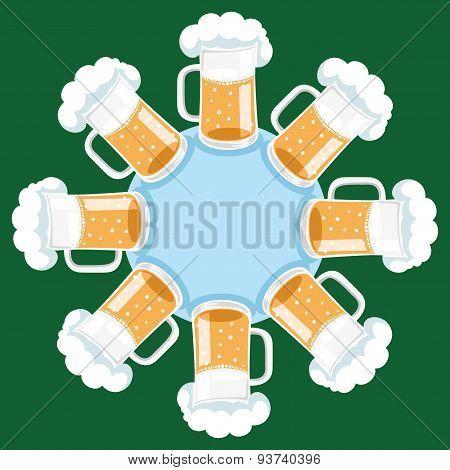 Vector background. Beer.