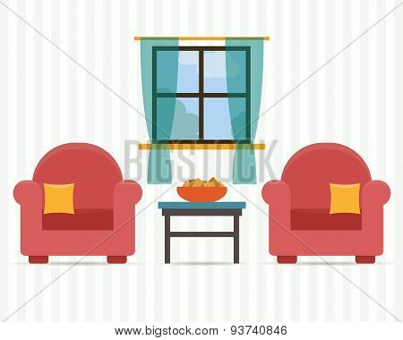 Chairs with small table