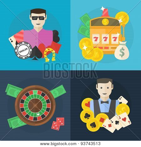 Casino or poker flat illustration