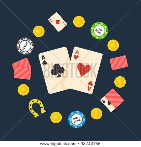 Poker flat logo