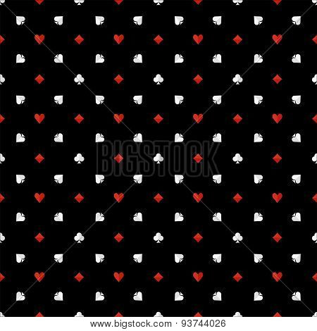 Poker seamless pattern