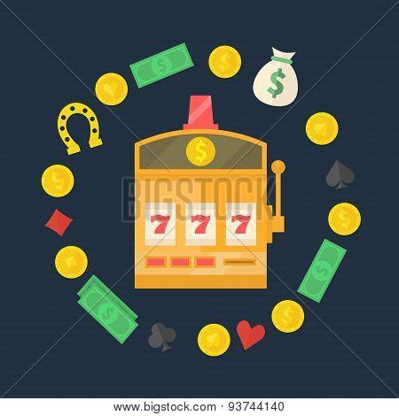 Slot machine logo or icon