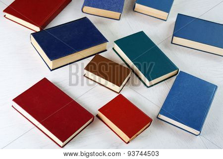 Books on light background