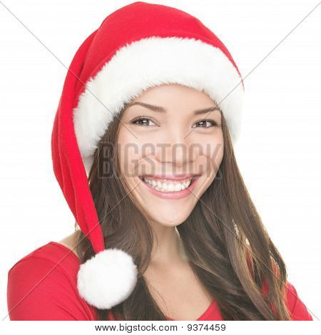Asian Santa Girl Smiling