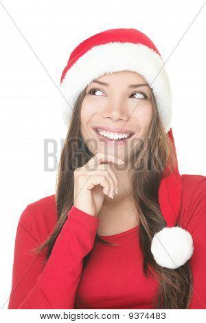 Santa Woman Thinking