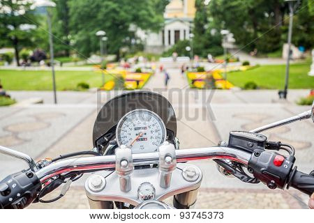 Sightseeing From Motorcycle