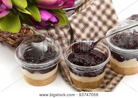 berry Cheesecake In Plastic Package