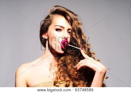 Revishing Woman With Lollipop