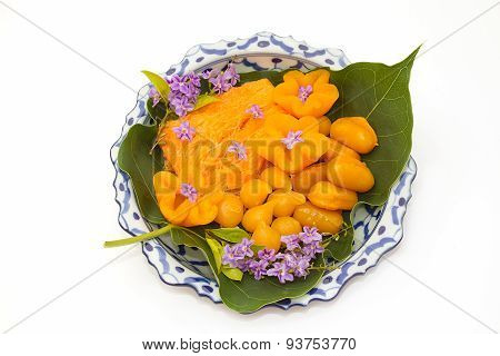 Thai Desserts In Lai Thai Dish