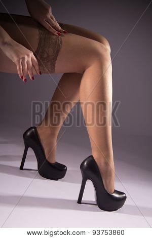 Stocking Girl Dress For A Slim Leg