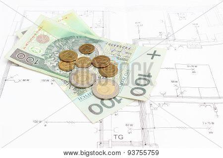 Money Lying On The Housing Plan