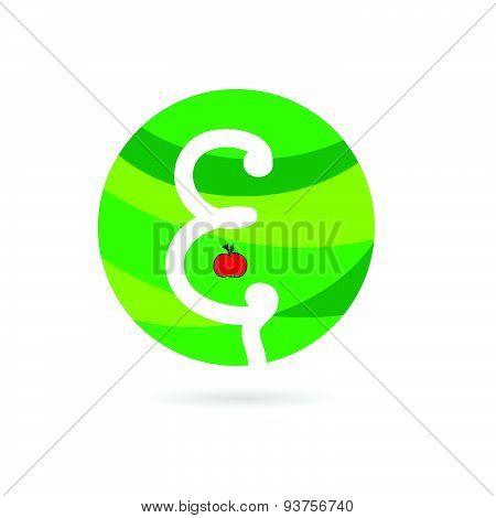 Apple Eco Color Vector