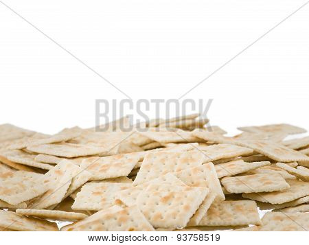 Soda Crackers Bottom Border Isolated On White Background