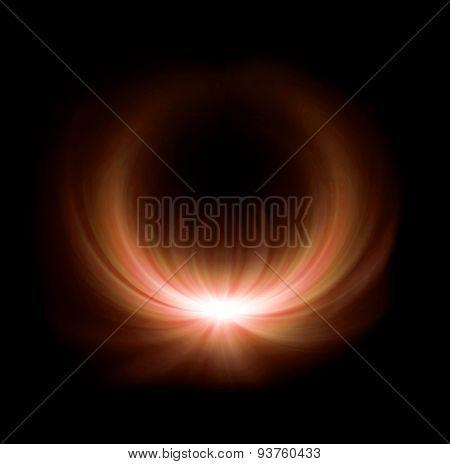 Orange Half Ring Lens Flare Glow