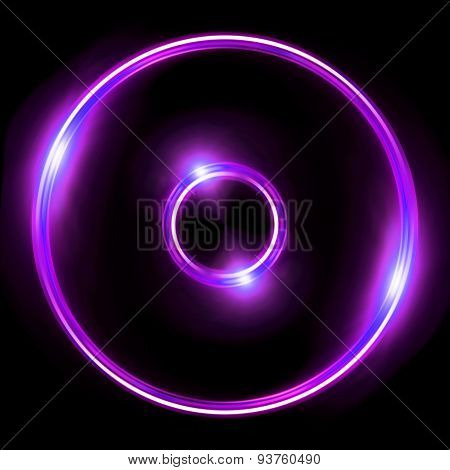 Purple Lens Ring Flares Double Circle