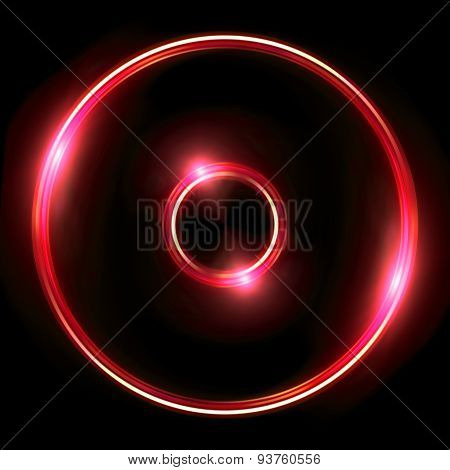 Red Lens Ring Flares Double Circle