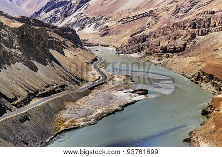 Indus River, Ladakh, Jammu And Kashmir, India
