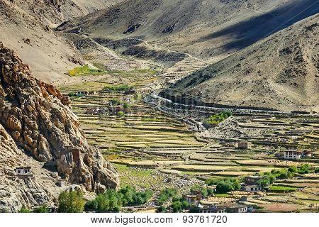 Aerial View Of Ladakh Landscape, Leh, India