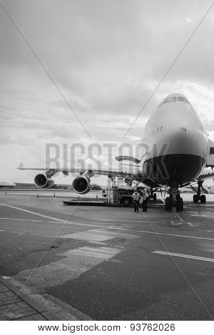Jet aircraft in Domodedovo airport of Moscow