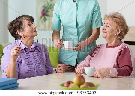 Serving The Tea