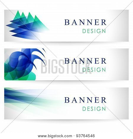 Vector Banners Collection With Abstract Multicolored Backgrounds. Modern Geometric Patterns. Busines