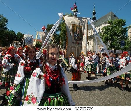 Corpus Christi procession in Lowicz.