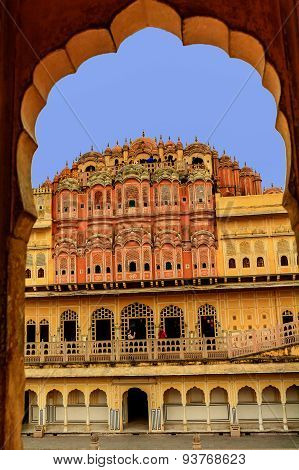 The Famous Hawa Mahal Or Palace Of The Winds.india