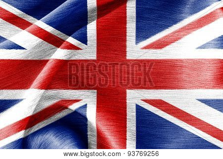 Silk Cotton Flag Of Great Britain