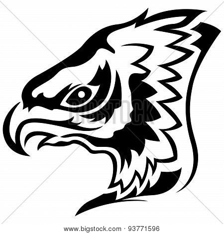 Menacing Eagle Black Outline