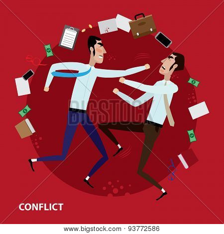 Conflict of two businessmen