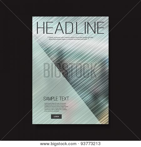 Flyer or Cover Design with Background