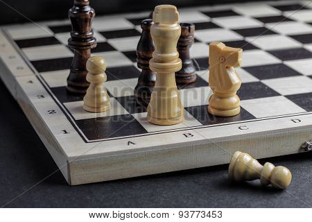 Chess Set Up, Game Strategy Concept.